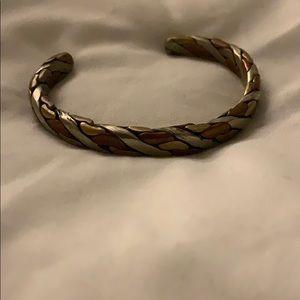 West African twisted blend metal bracelet
